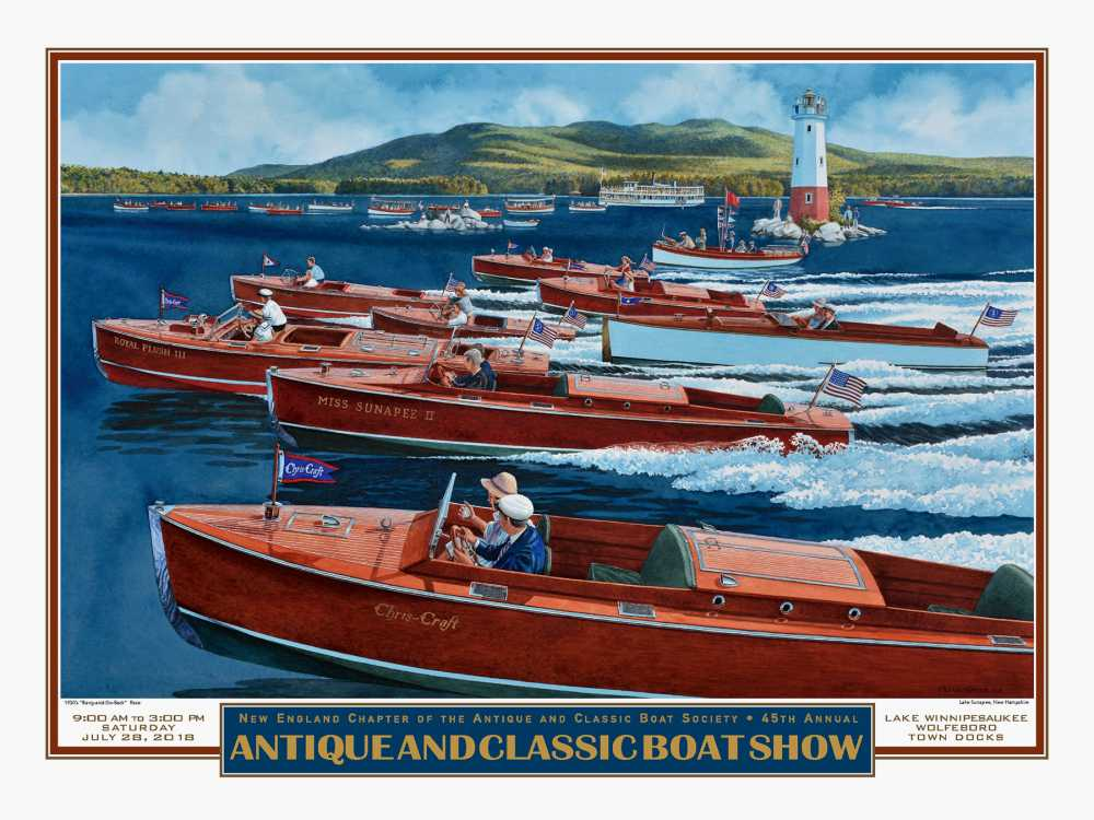 2018 Boat Show Poster by Peter Ferber