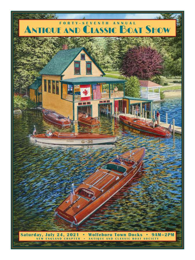 2021 Boat Show Poster by Peter Ferber